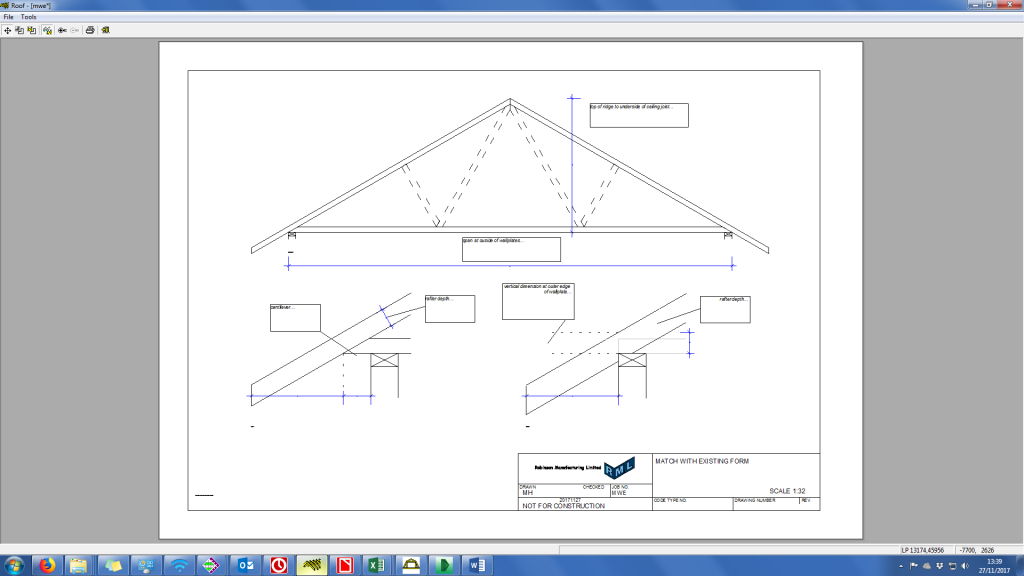 site measure for existing roofs