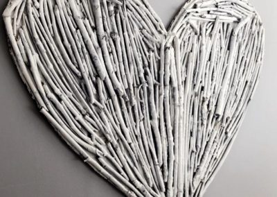 Heart made from twigs